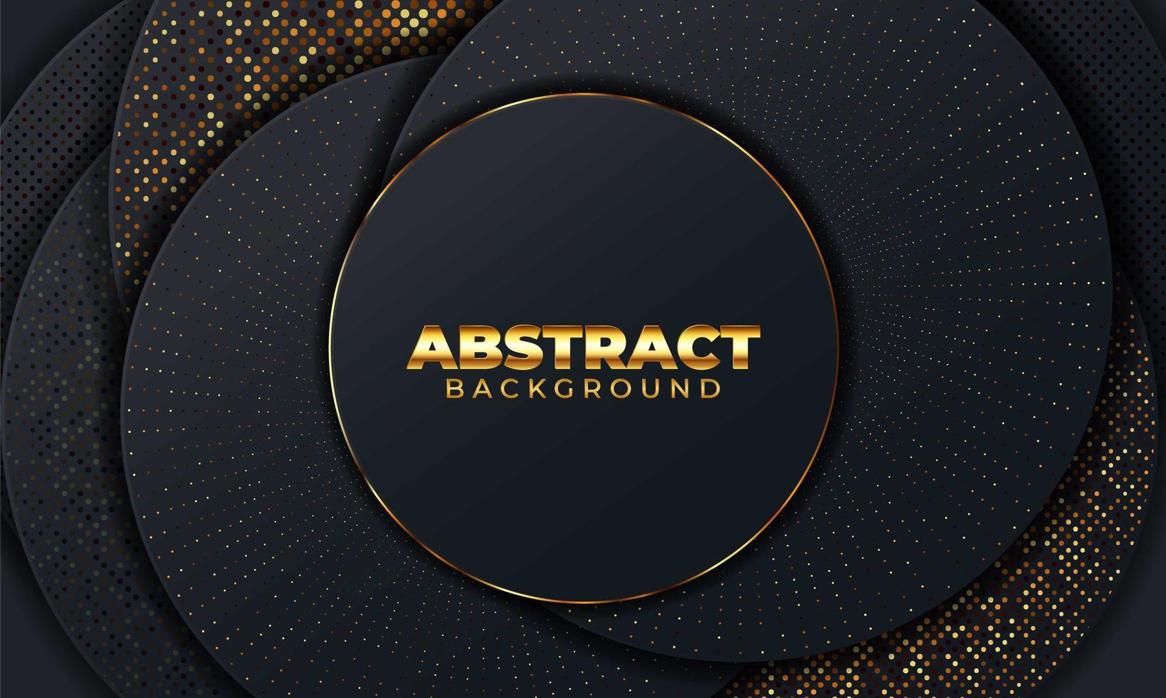 abstrakter Hintergrund mit geometrischen Formen. schwarzer abstrakter Hintergrund mit geometrischen Papierformen. Vektorillustration vektor