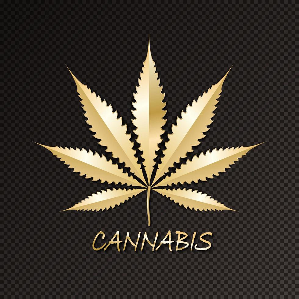 Cannabis kalligraphische Logo-Beschriftung vektor