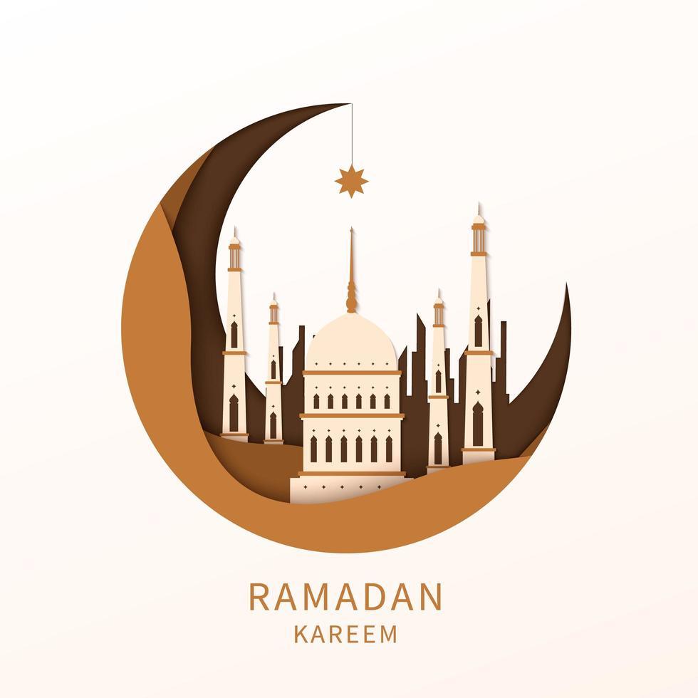horizontales Banner des Ramadan Kareem-Konzepts vektor