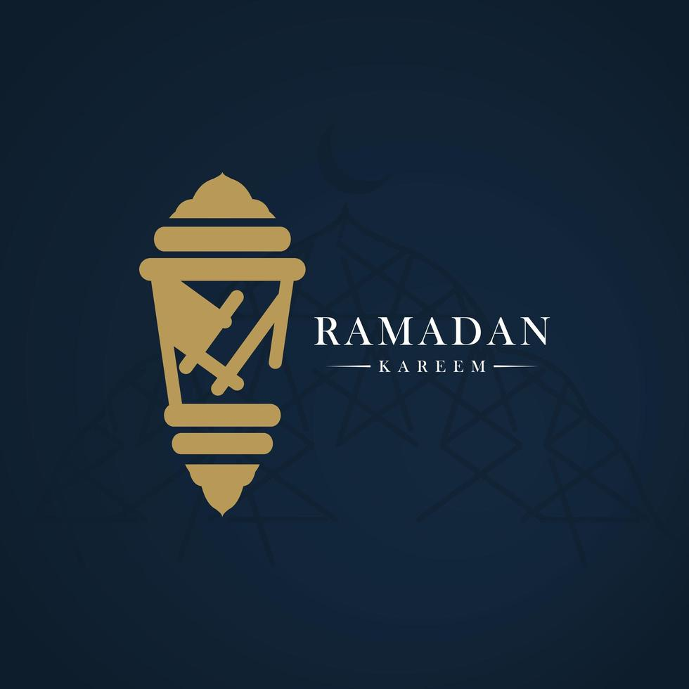 Ramadan Kareem Banner Vektor Vorlage Design Illustration