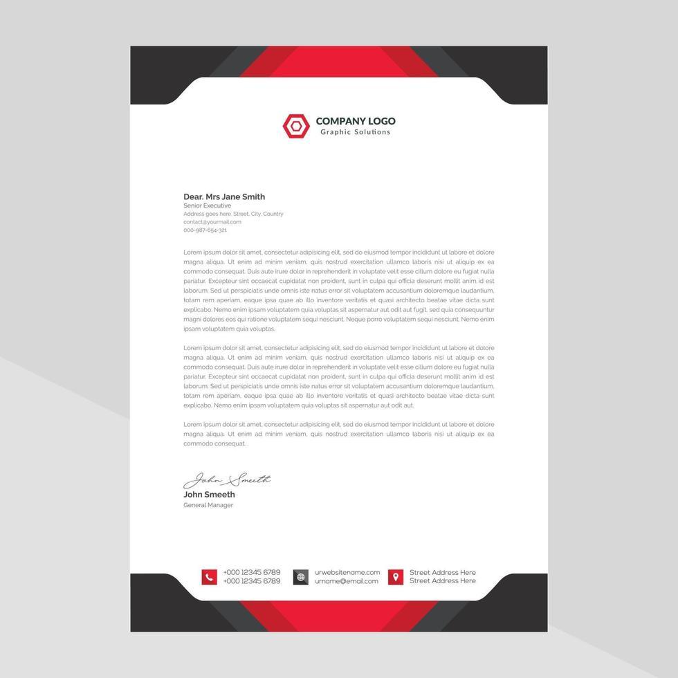 Briefkopfentwurf im Geschäftsstil vektor