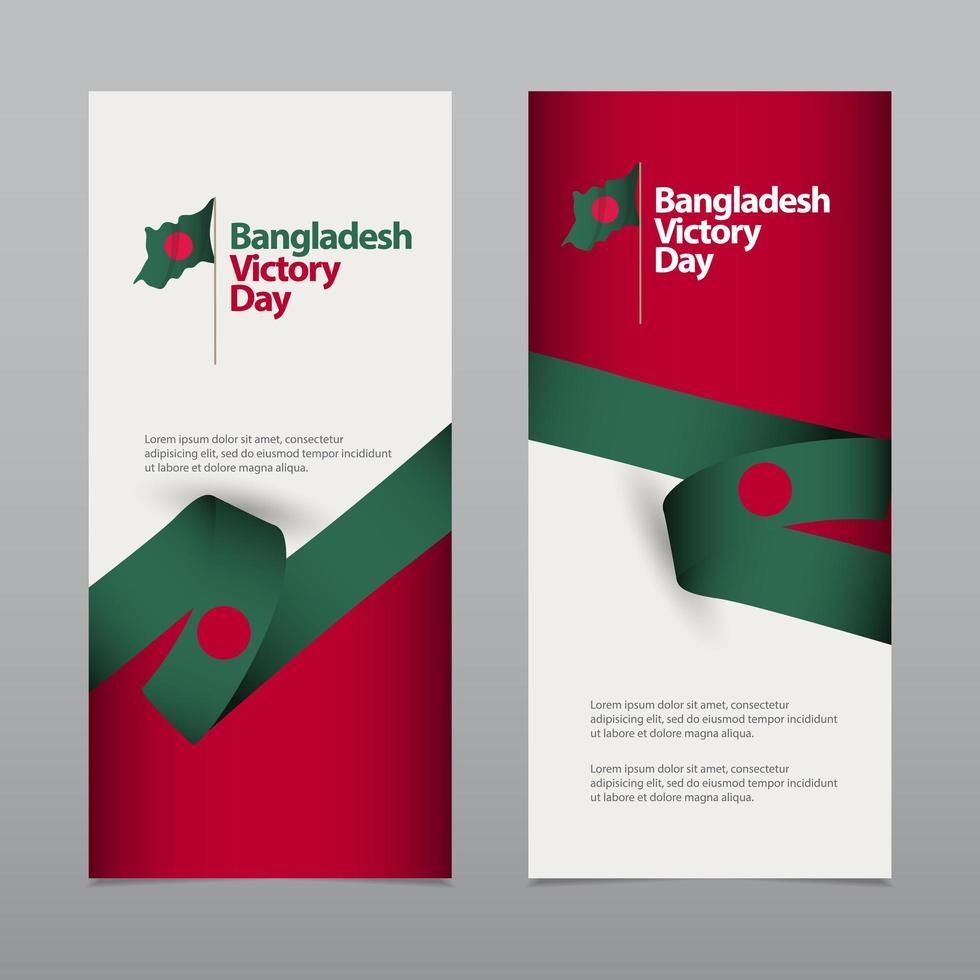 glückliche bangladesche Unabhängigkeitstag Feier Vektor Vorlage Design Illustration