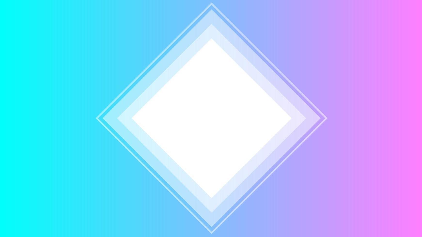 pastellfarbener Hintergrund mit weißem Polygon vektor