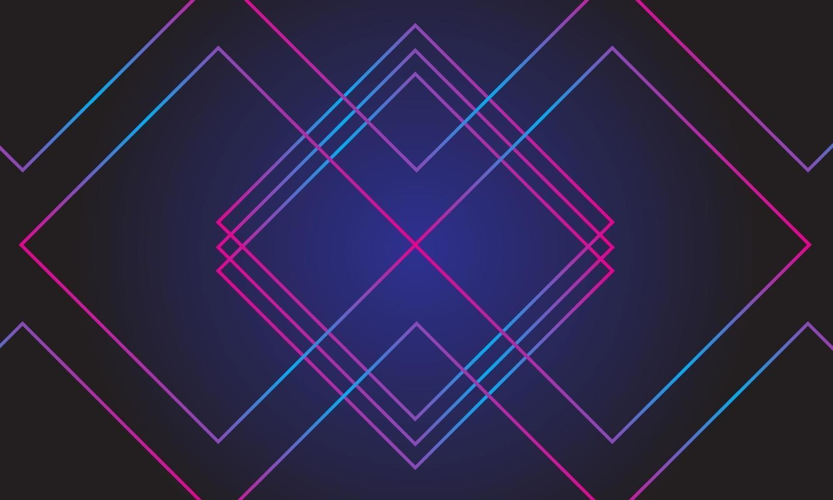 abstrakter Hintergrund der Neonlichtlinien vektor