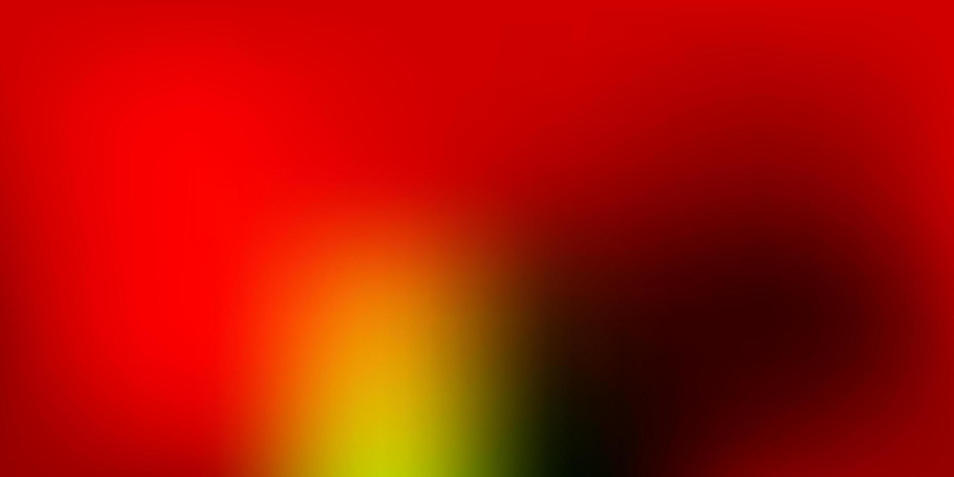 dunkelgrünes, rotes Vektorgradienten-Unschärfelayout. vektor