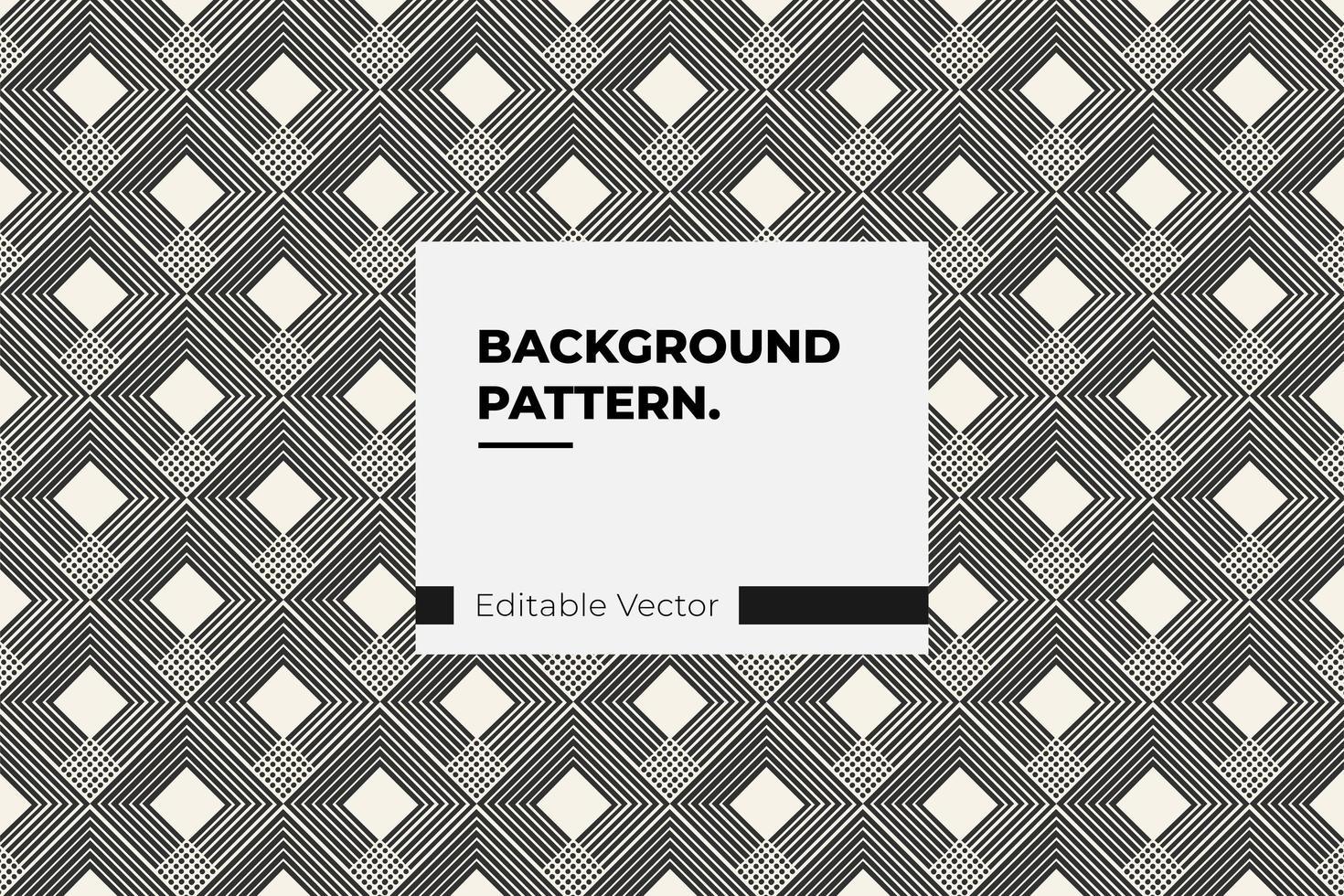 Linien- und Punktdiamantmuster vektor