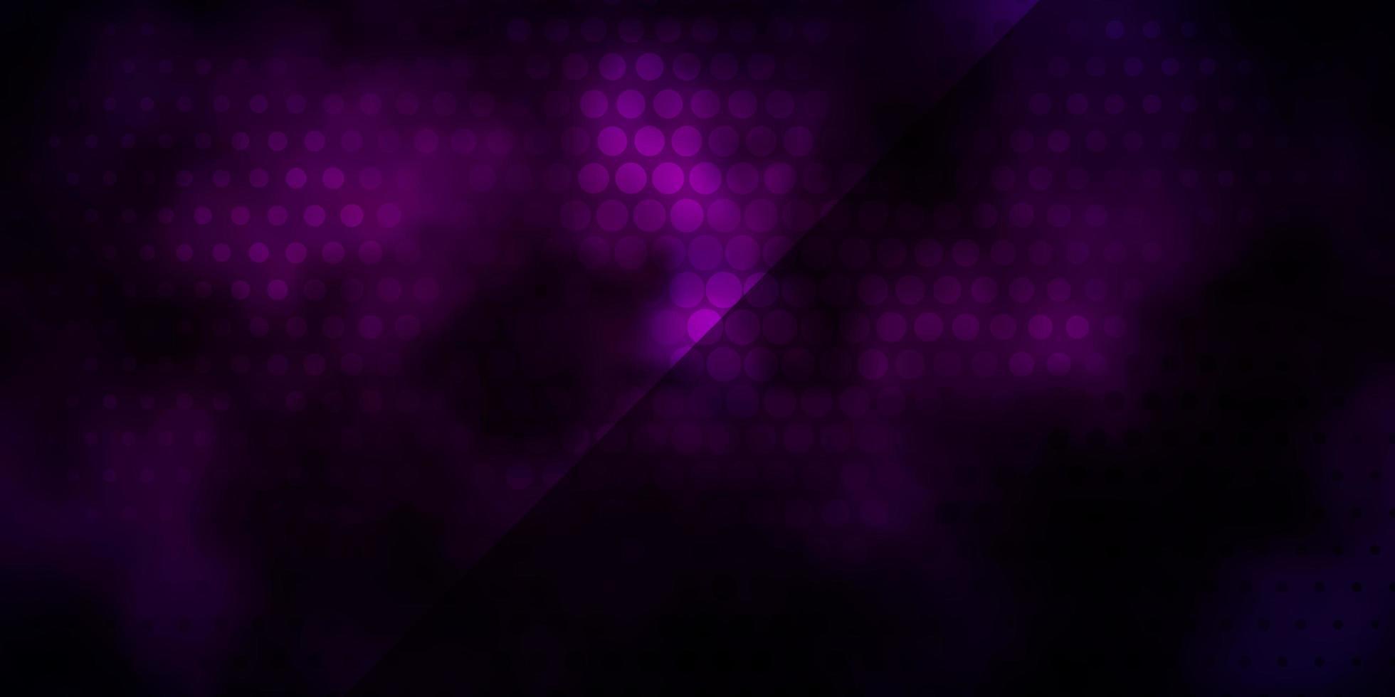 mörkrosa, blå vektorstruktur med cirklar. vektor