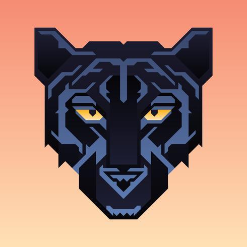 Black Panther Maskottchen Tiercharakter vektor
