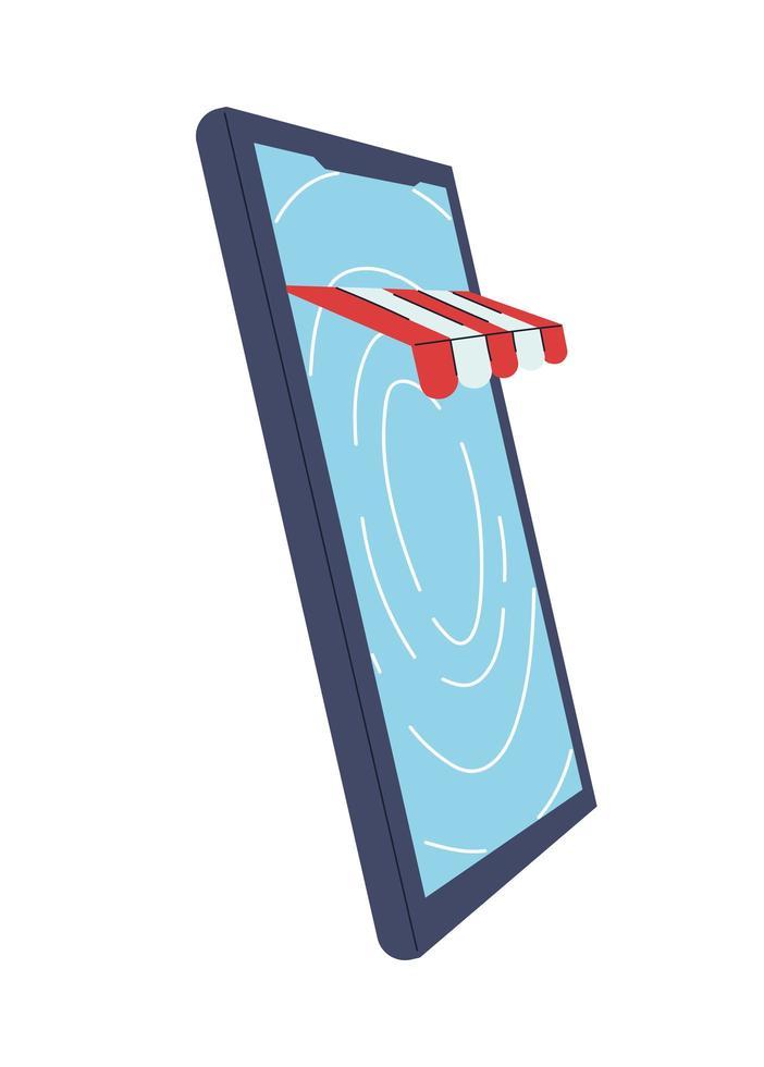 köp i virtuell butik med kortbetalning vektor
