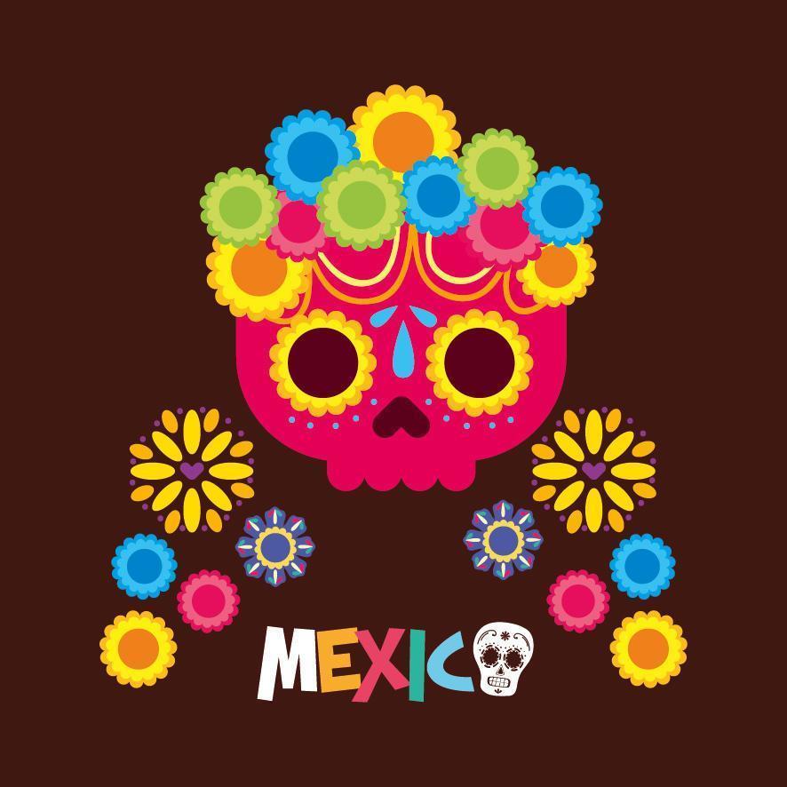 mexikanischer Schädelvektorentwurf vektor