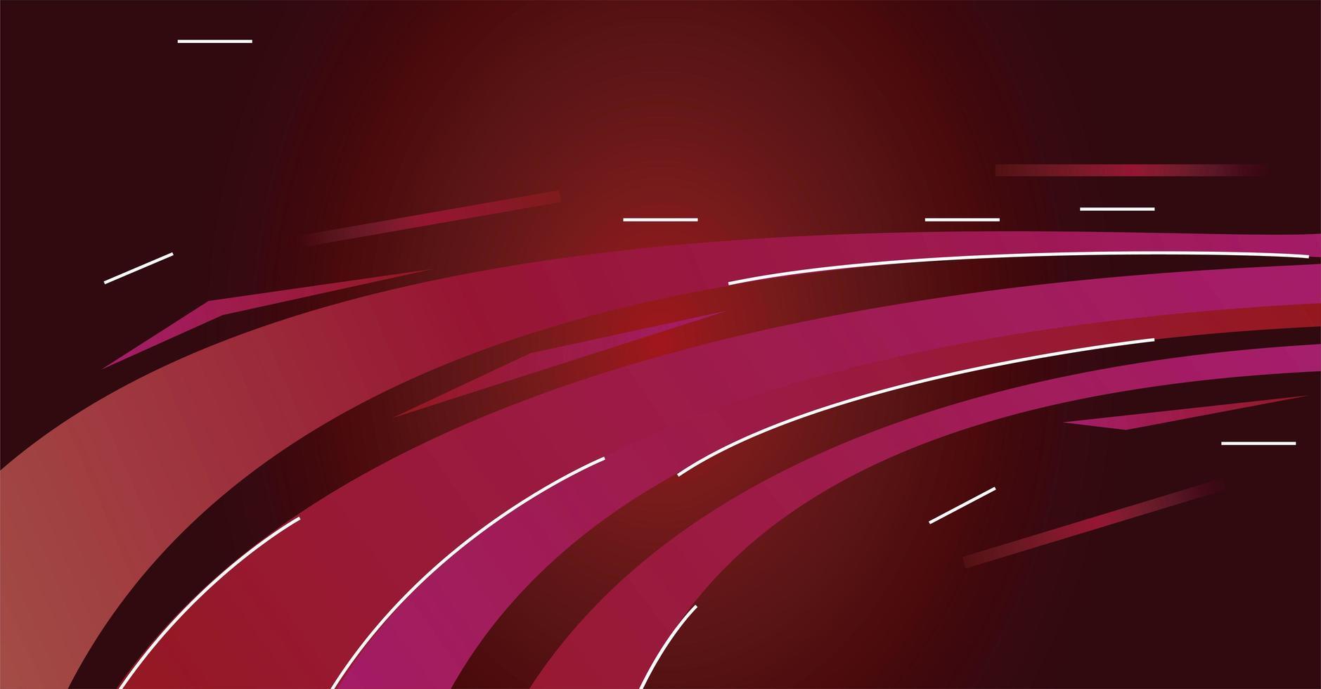 färgglada ljus spår i röd bakgrund vektor