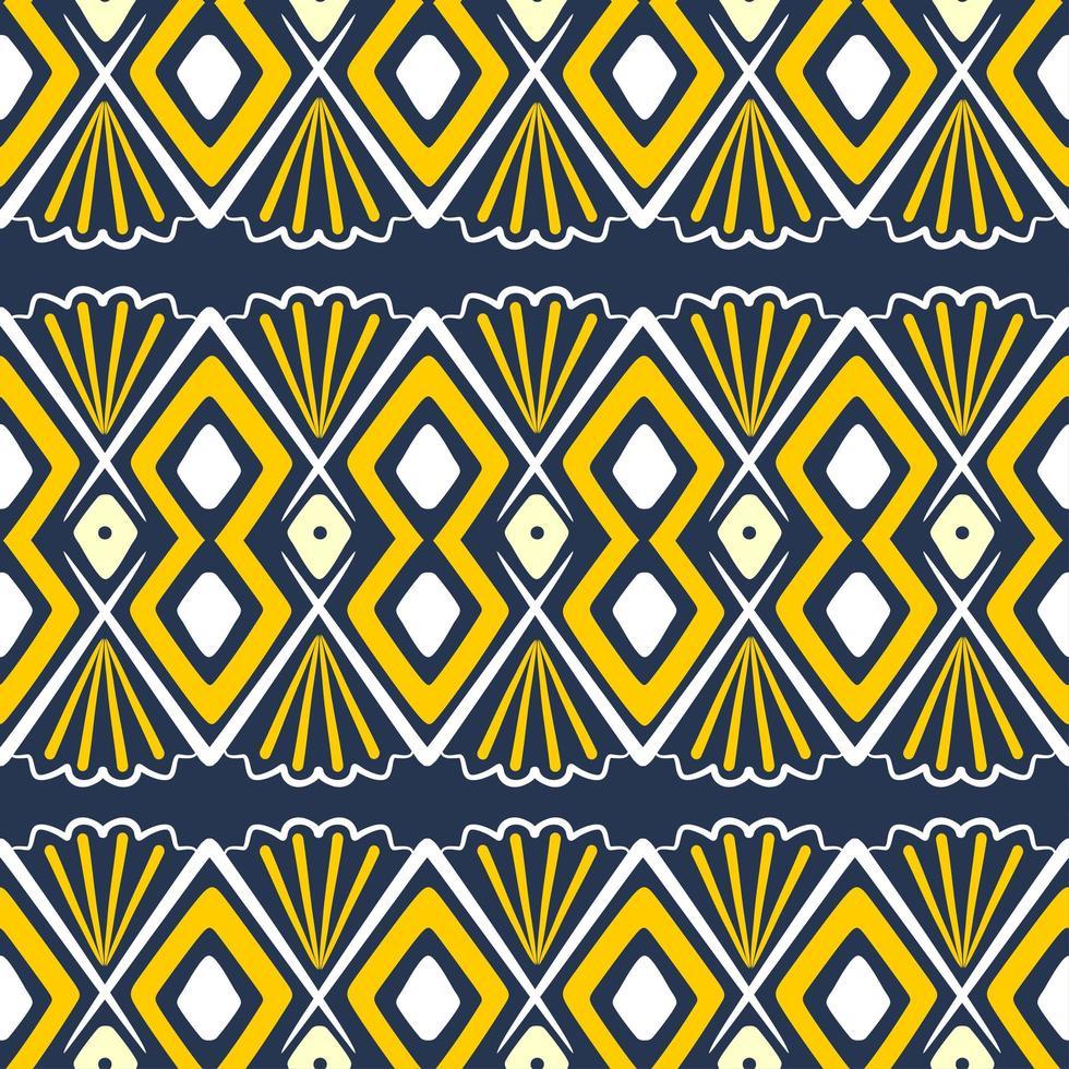 handgezeichnetes ethnisches nahtloses Muster. Vektorillustration aztekischer, afrikanischer, Stammesmotivhintergrund. vektor