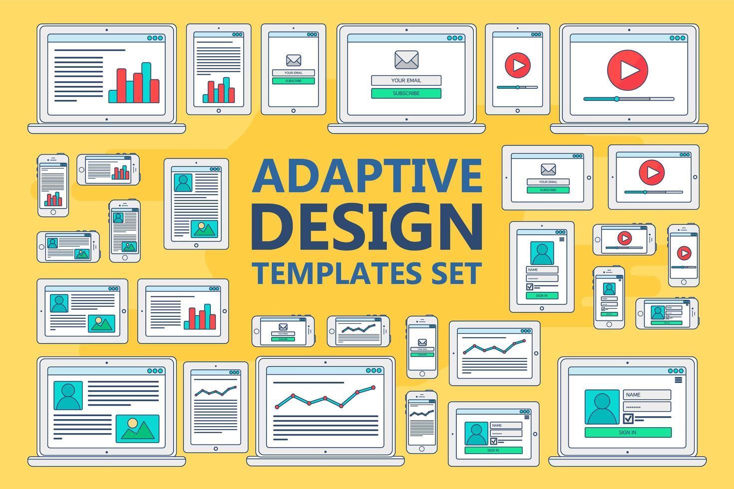 adaptiva webbmallar vektor