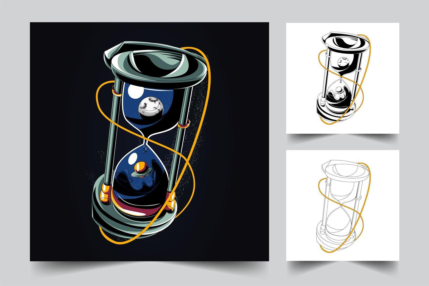 timglas konstverk illustration vektor