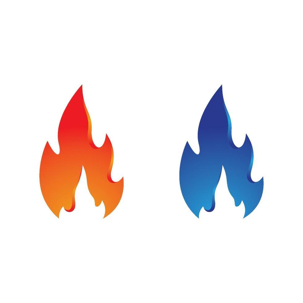 Feuer Logo Bilder gesetzt vektor