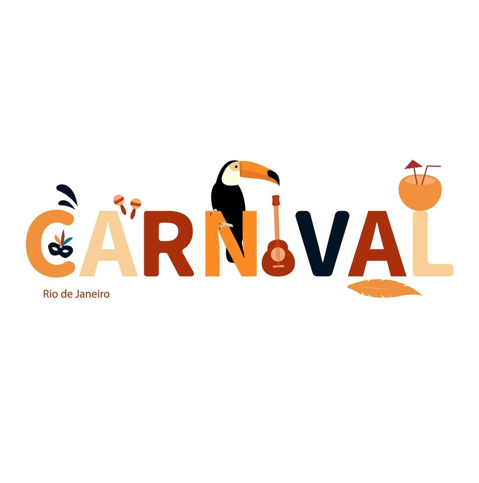 Rio de Janeiro karnevalkoncept vektor