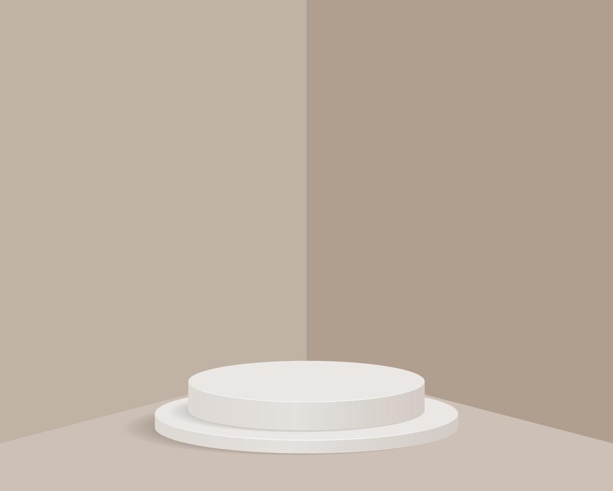 leeres Zylinderpodest auf minimalem Hintergrund. abstrakte Minimalszene mit geometrischen Formen. Design für die Produktpräsentation. 3D-Vektorillustration. vektor