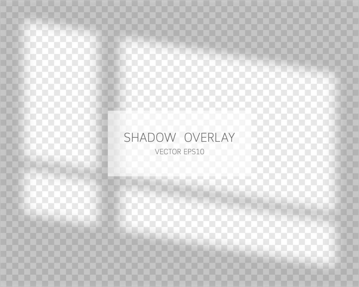 Schattenüberlagerungseffekt. natürliche Schatten vom Fenster lokalisiert auf transparentem Hintergrund. Vektorillustration. vektor