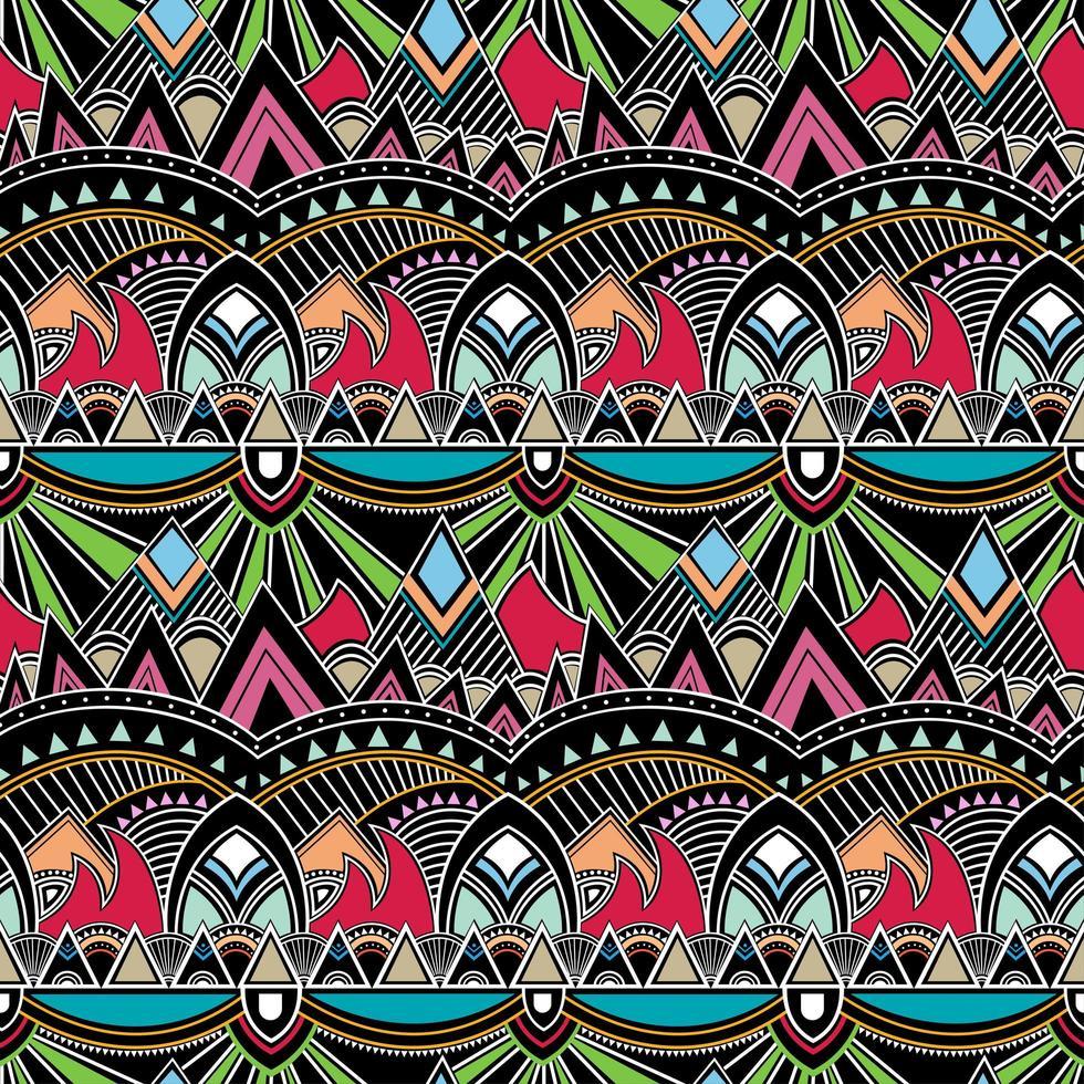 florale geometrische Folkloreverzierung. Stammes ethnische Vektor Textur.