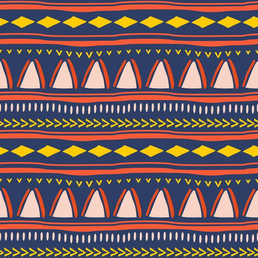 nahtloses Stammesmuster im afrikanischen Stil. vektor