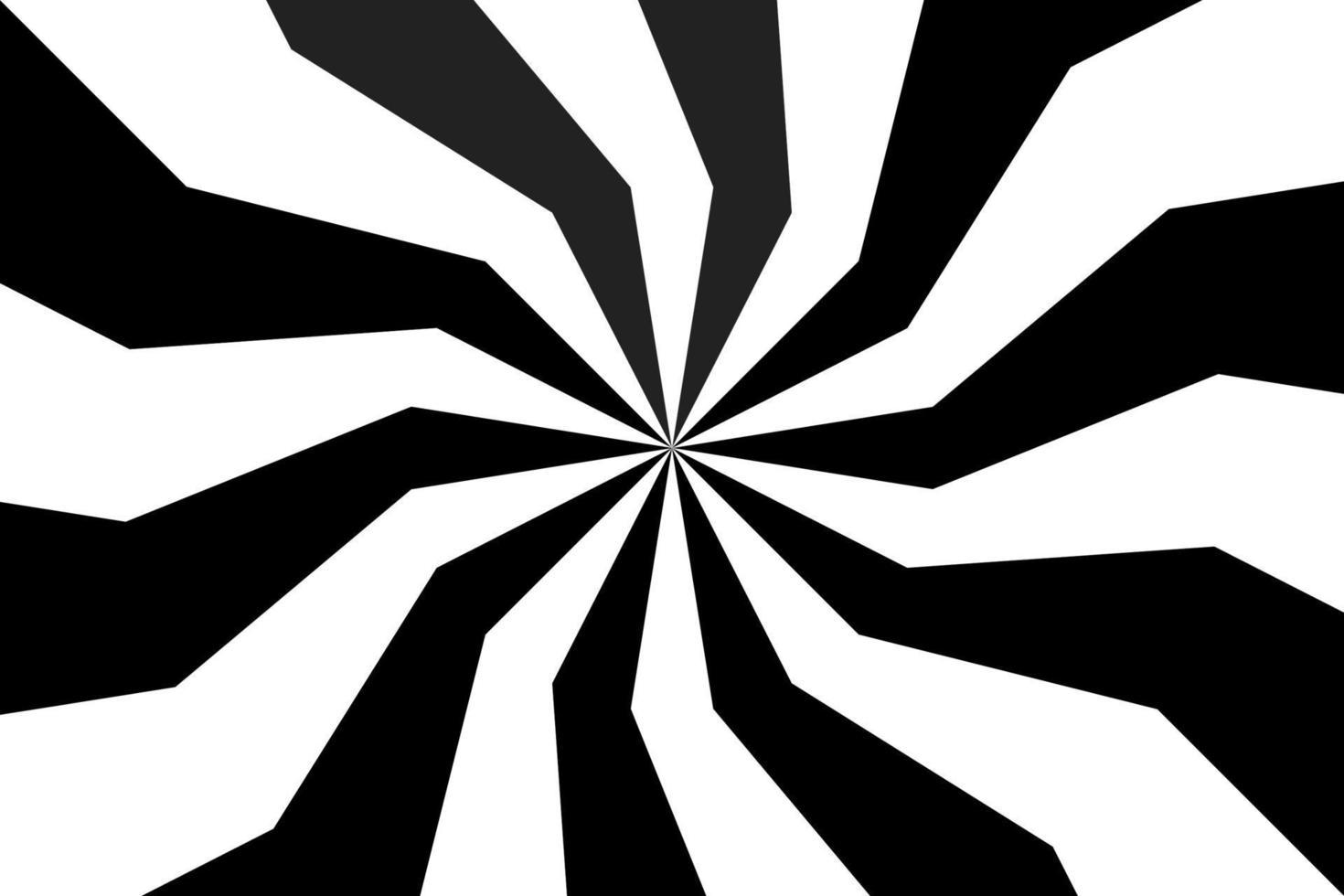 Schwarzweiss-Spiralhintergrund, wirbelndes radiales Muster, abstrakte Vektorillustration vektor