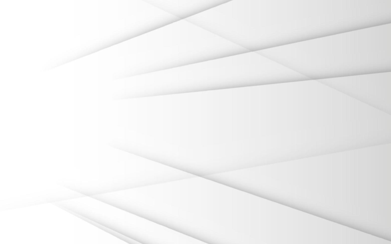 abstrakter geometrischer weißer und grauer Farbhintergrund vektor