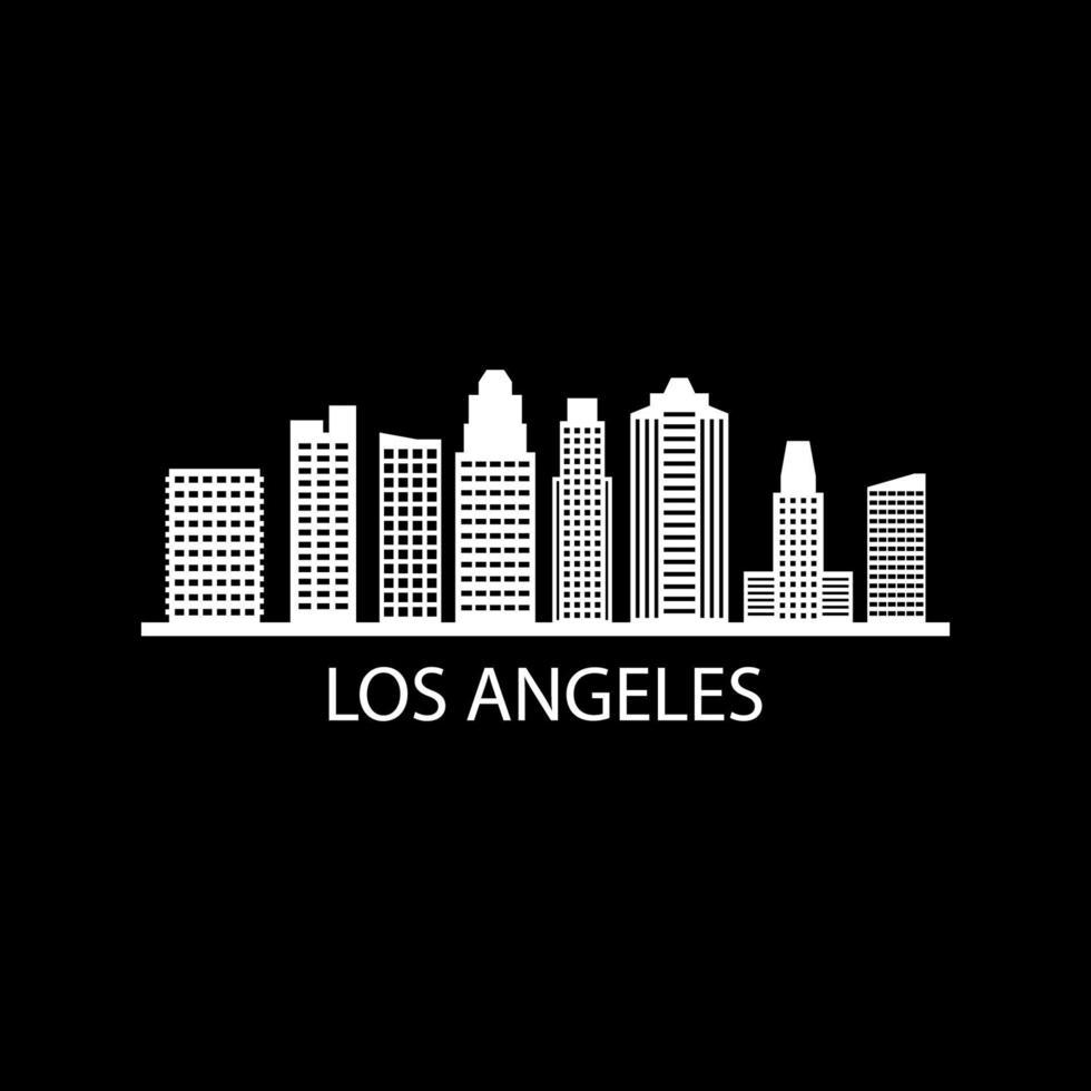 Skyline von Los Angeles auf Hintergrund dargestellt vektor