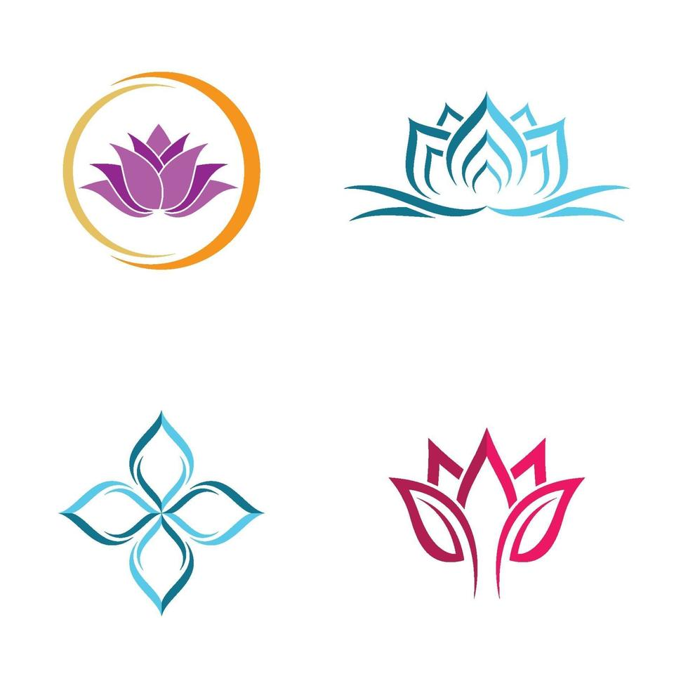 Beauty Lotus Logo Bilder vektor