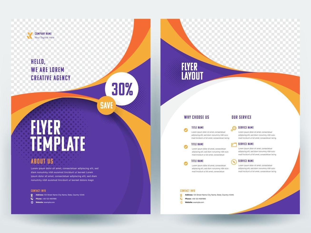 Business Flyer Layout-Vorlage vektor