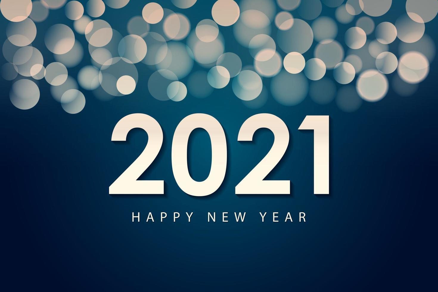 Frohes neues Jahr 2021 Design-Vorlage für Grußkarten, Poster, Banner, Vektor-Illustration. vektor