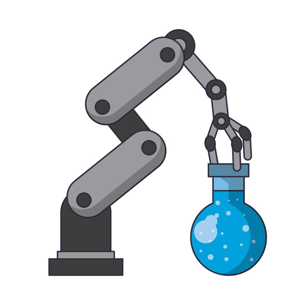 Konzeptkarikatur der künstlichen Intelligenzikonen vektor