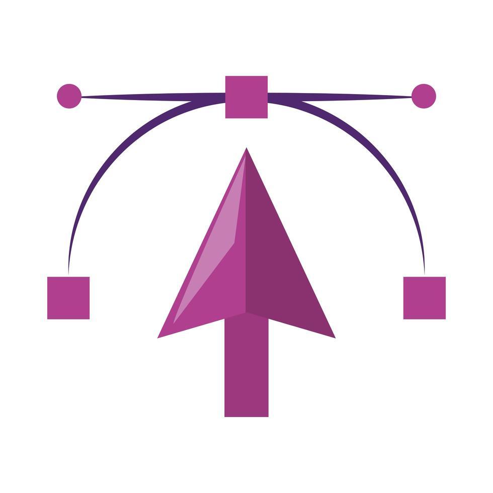 Grafikdesignsymbol des Vektorpfeilzeigers vektor