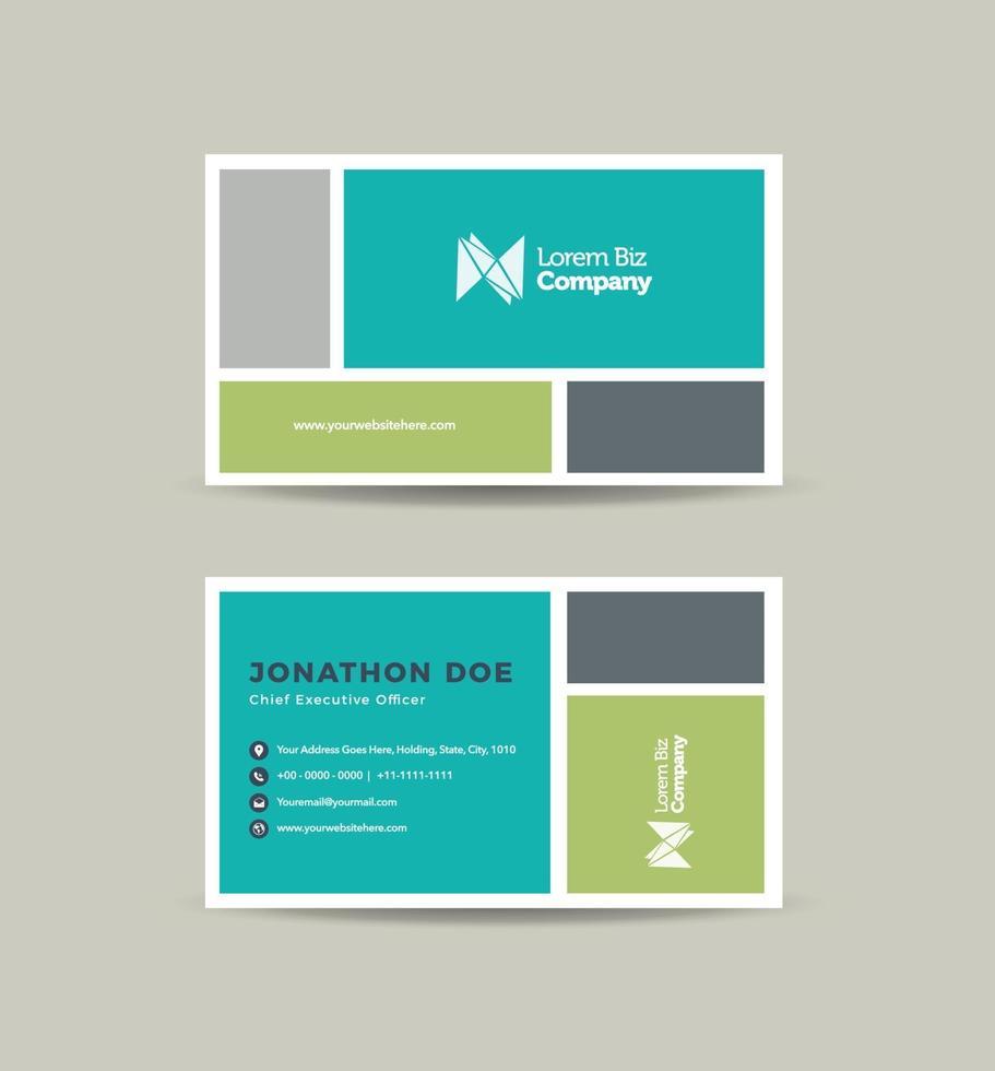 Visitenkarten-Design oder Visitenkarte und persönliche Visitenkarte vektor