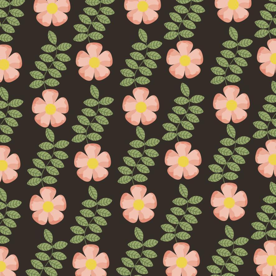 schöner Blumen dekorativer Musterhintergrund vektor