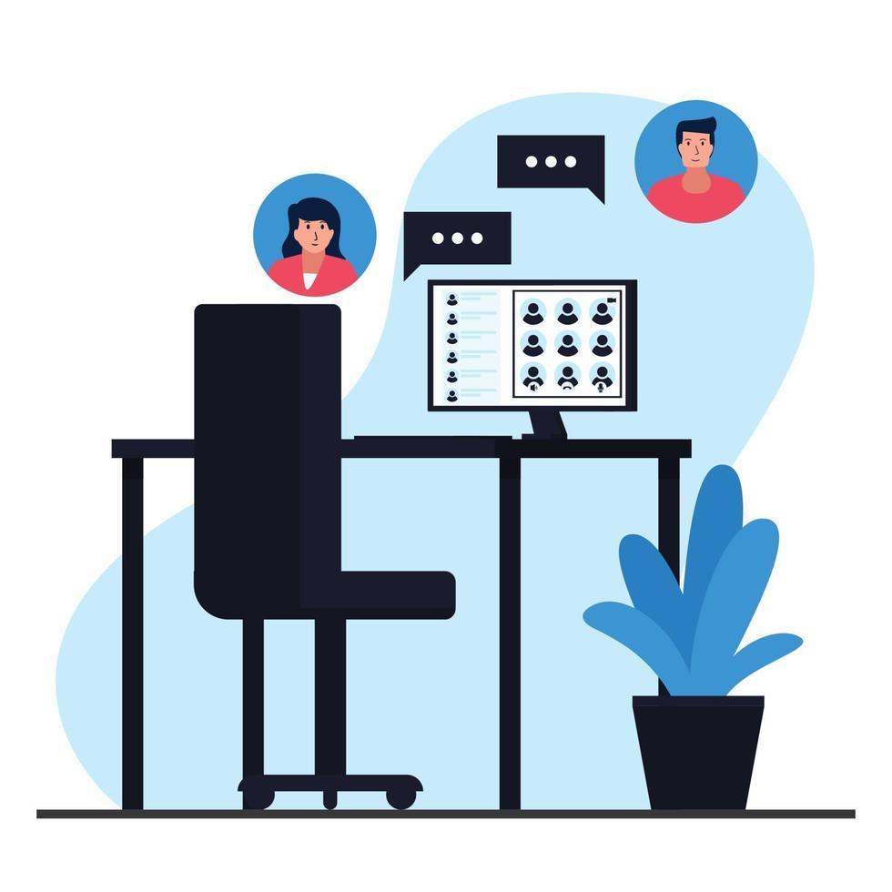 Online-Chat-Konzept Illustration vektor