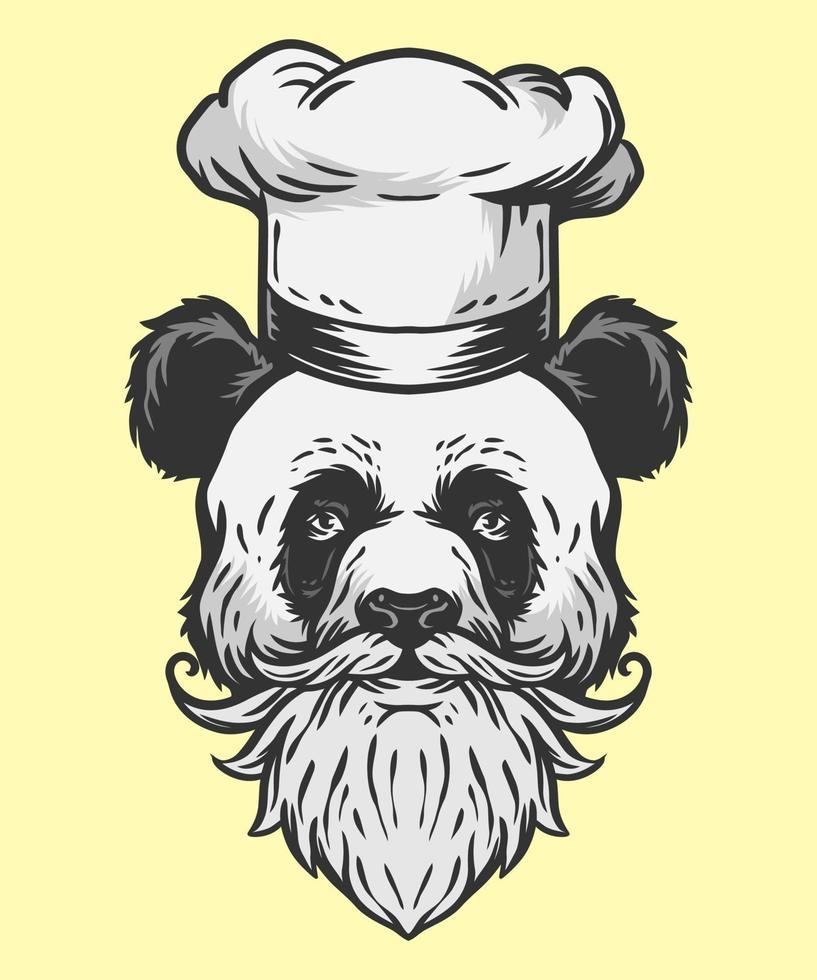 Panda Chef Illustration vektor
