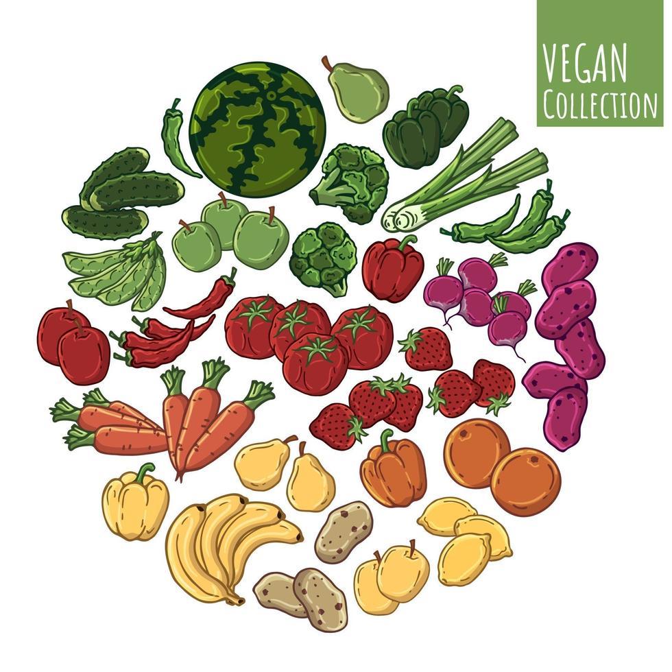 Gemüsesphärenvektor vektor