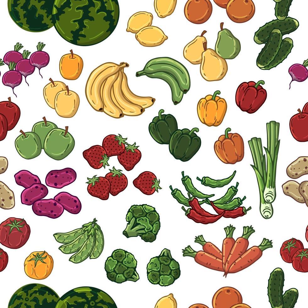 grönsaker mönster vektor