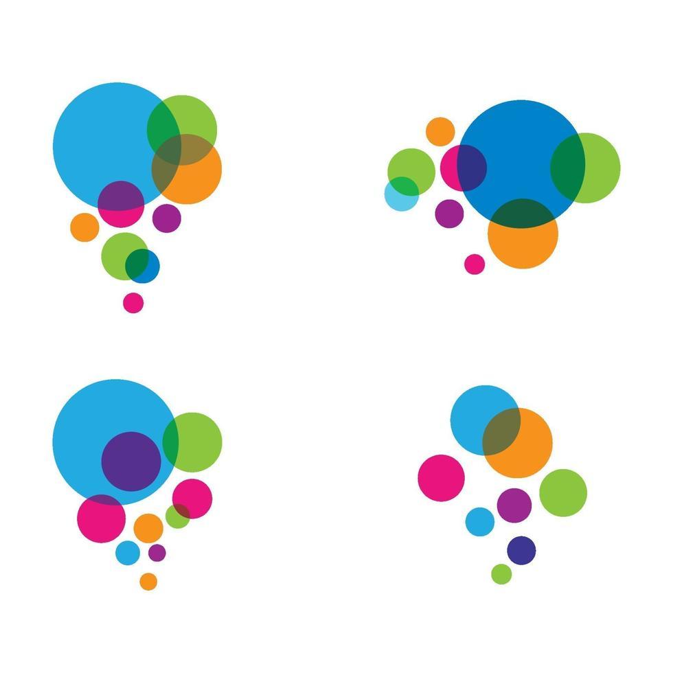 bubbla färgglada logotypbilder vektor