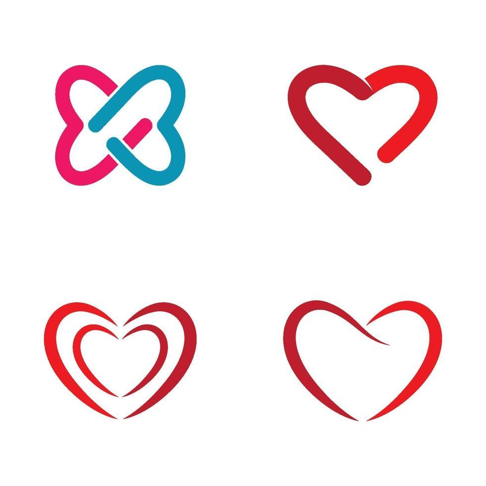älskar logotypbilder vektor