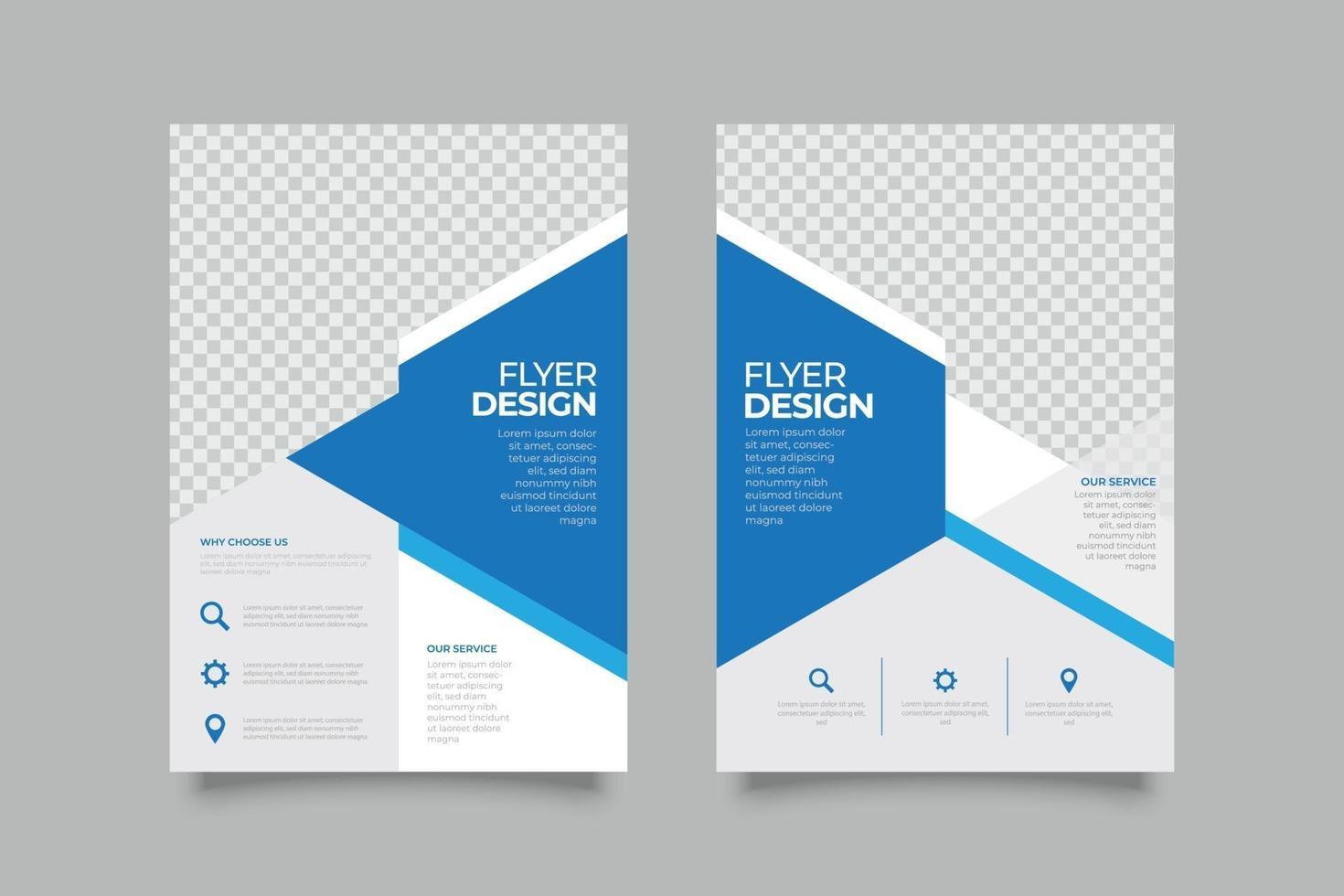 webinar flygblad mall med abstrakta former vektor