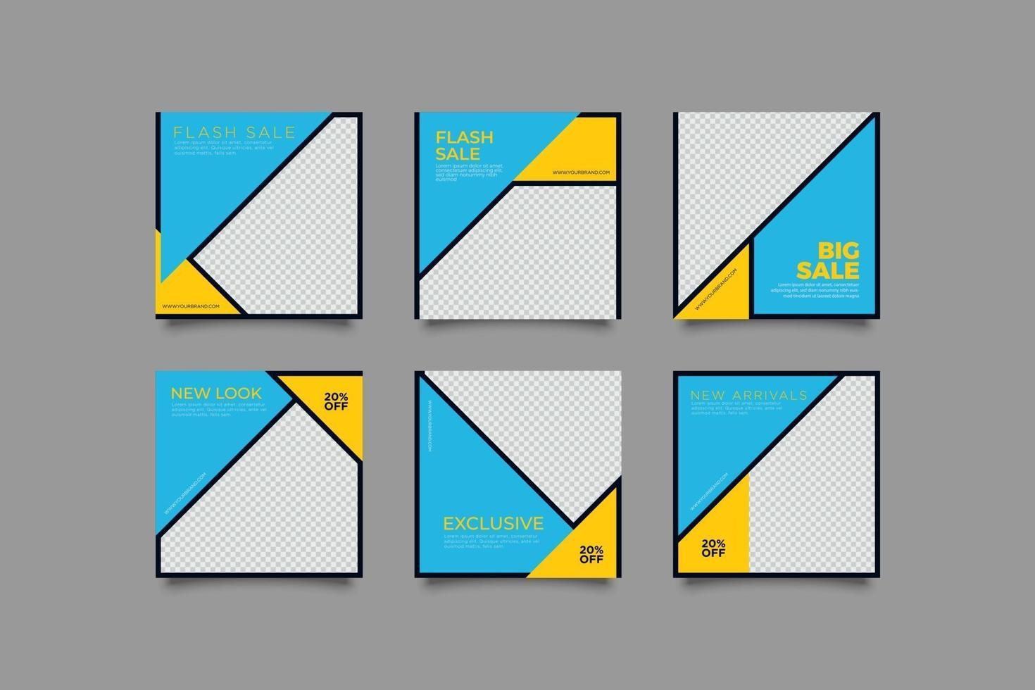 minimalistische moderne Social-Media-Beiträge vektor