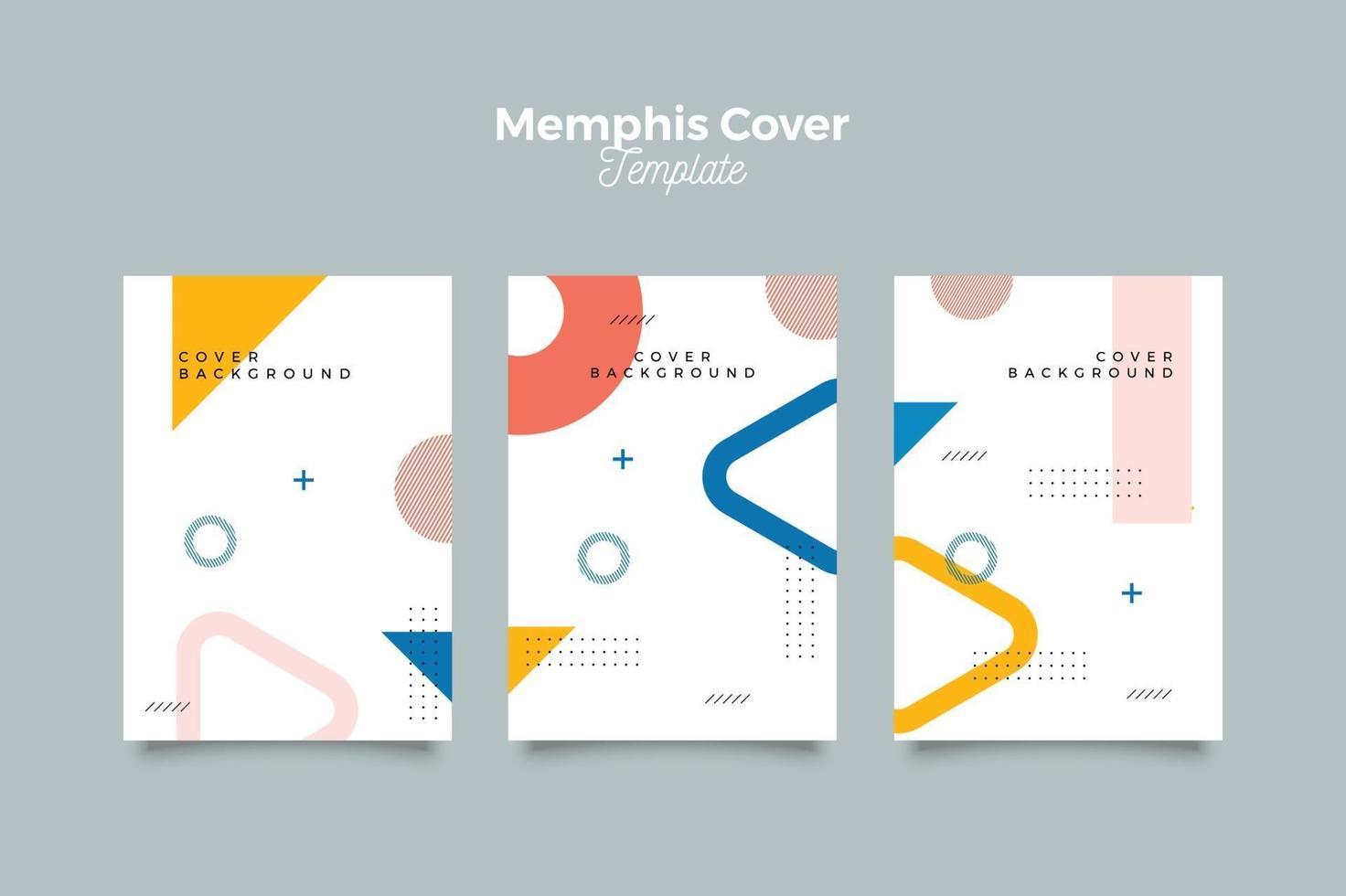Satz von abstrakten Memphis umfasst Sammlung vektor