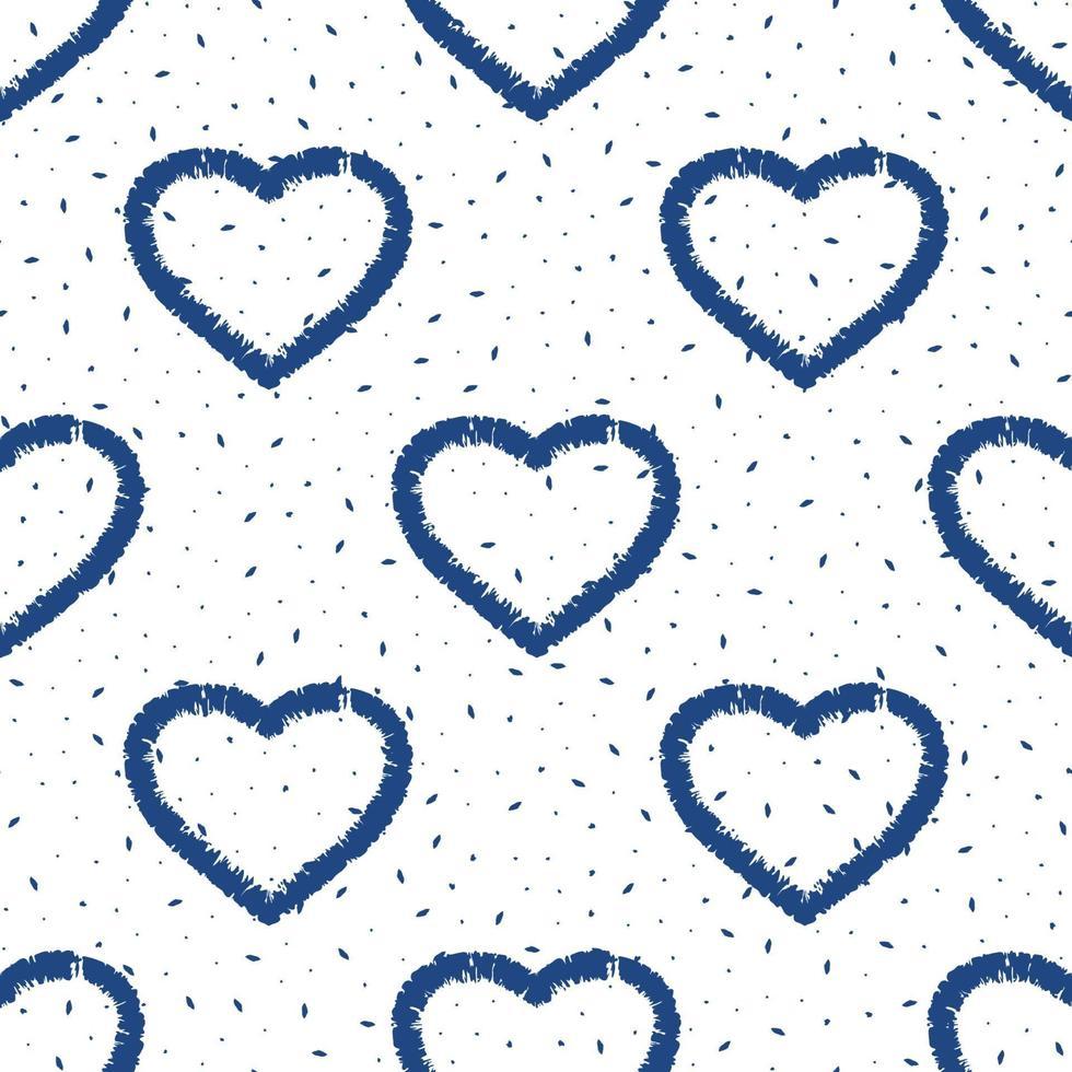 abstrakt sömlös hjärtmönster. design för tapeter, matta, kläder, omslag, tyg. vektor