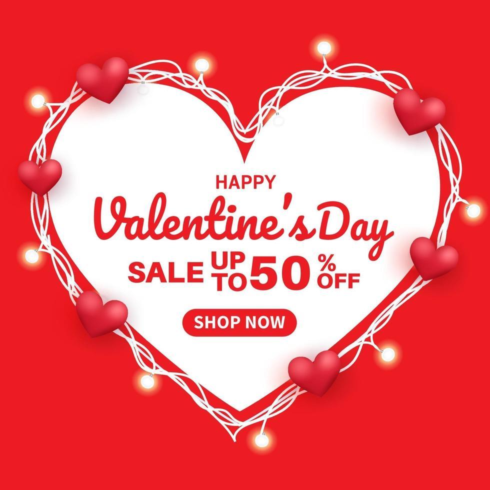 Alla hjärtans dag försäljning banner. vektor