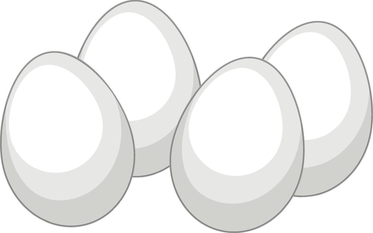 viele weiße Eier auf weißem Hintergrund vektor