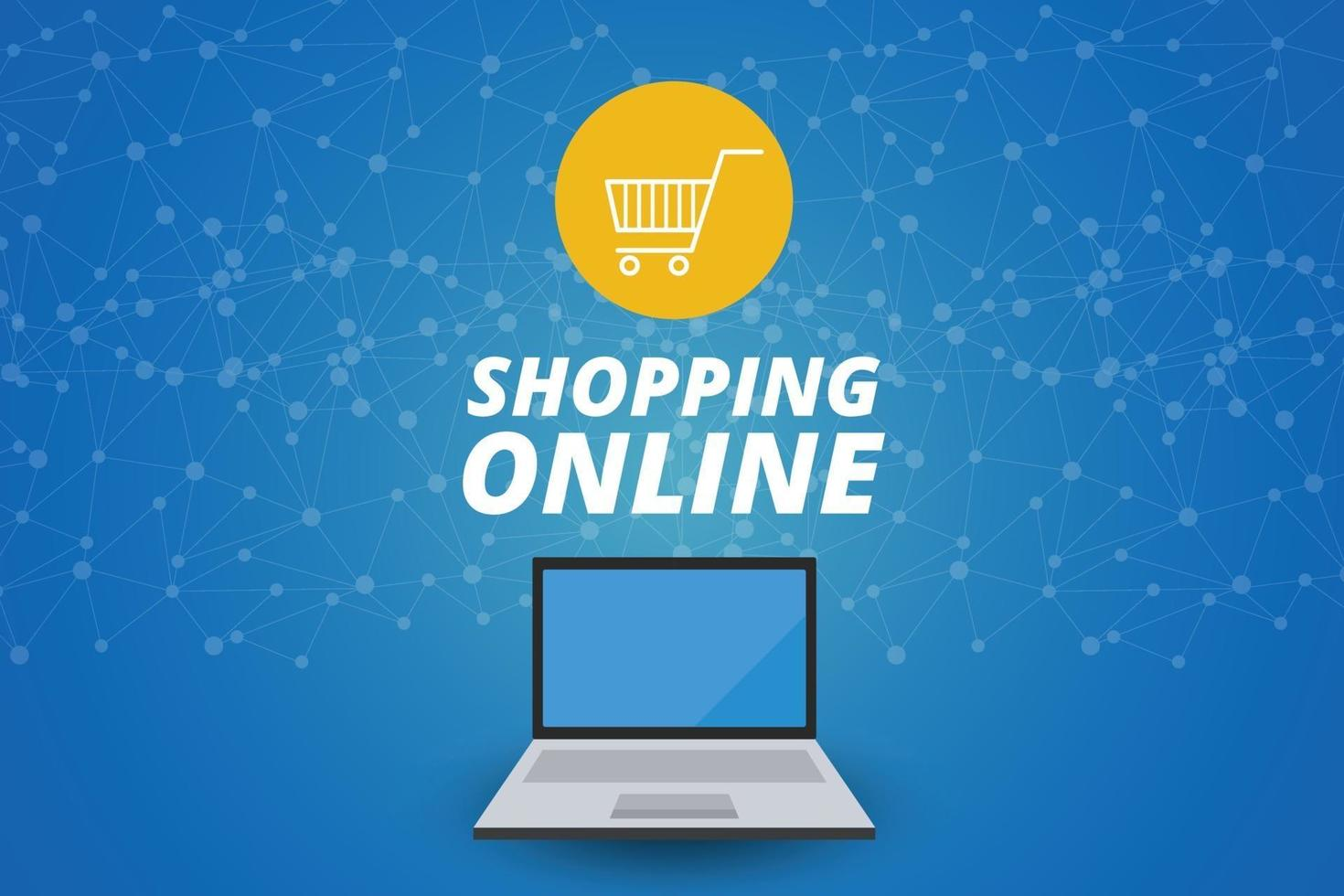 Online-Shopping auf Website, Marketingkonzept, Vektordesign. vektor