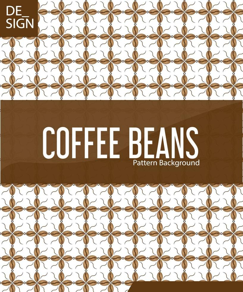 vektor sömlös bakgrund med kaffebönor. geometrisk fiskskala layout.