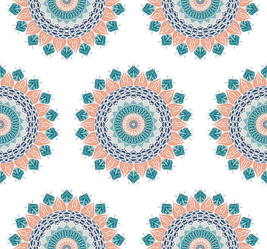 nahtloses Mandala-Muster vektor