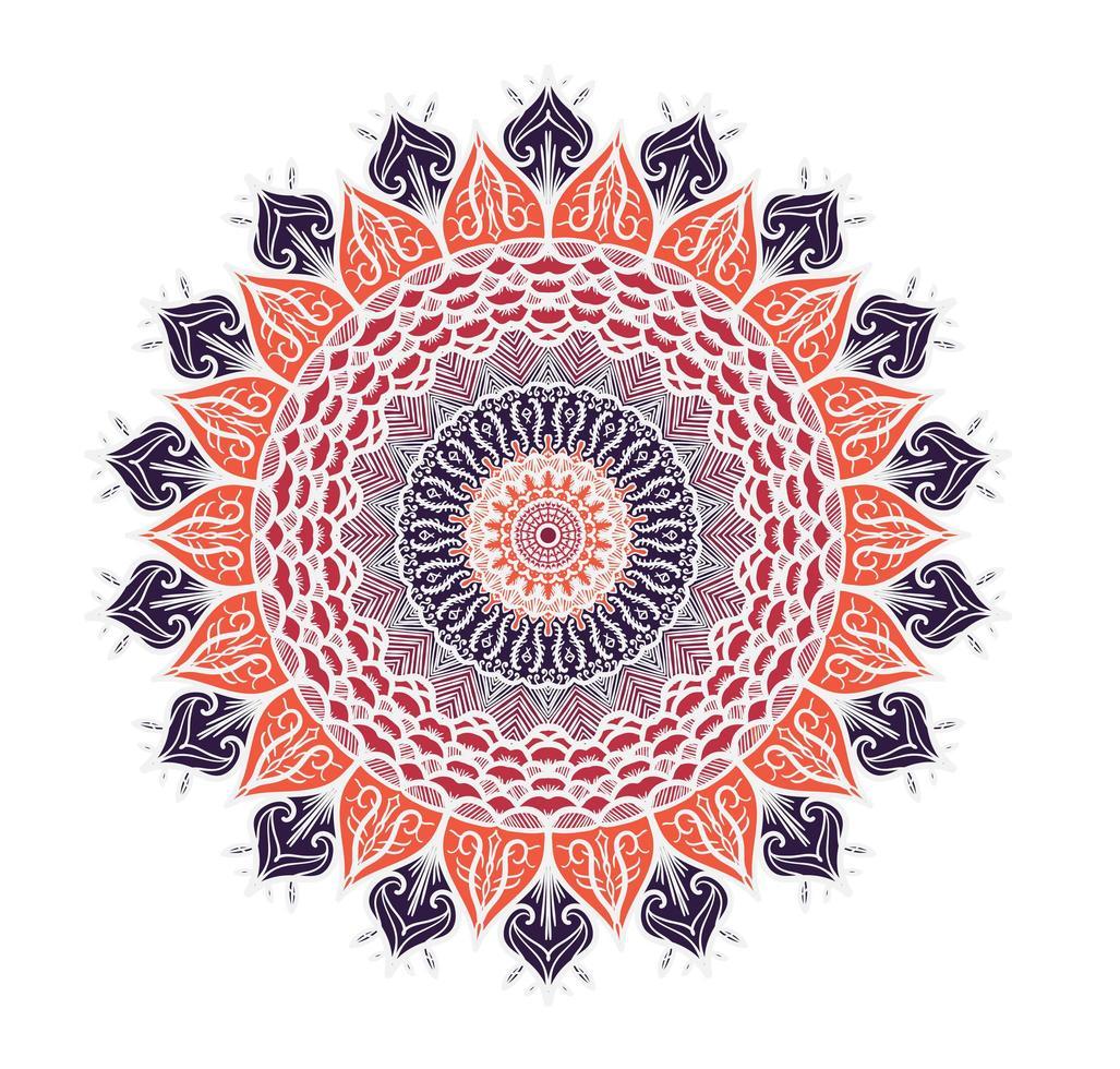Mandala Linienvorlage vektor